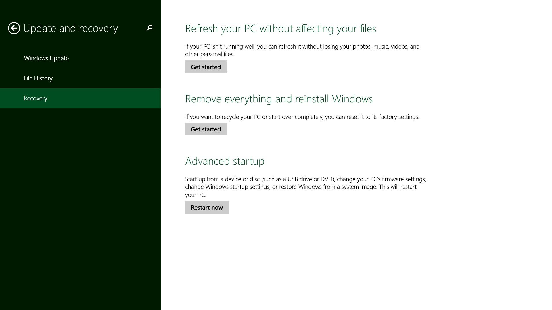 Så här återställer du din Windows 8.1-bärbara dator, stationära dator, surfplatta eller 2-i-1 (6)