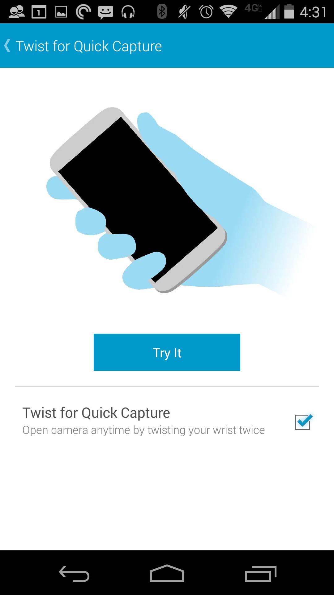 Så här stänger du av Twist to Camera på Moto X 2014 (7)