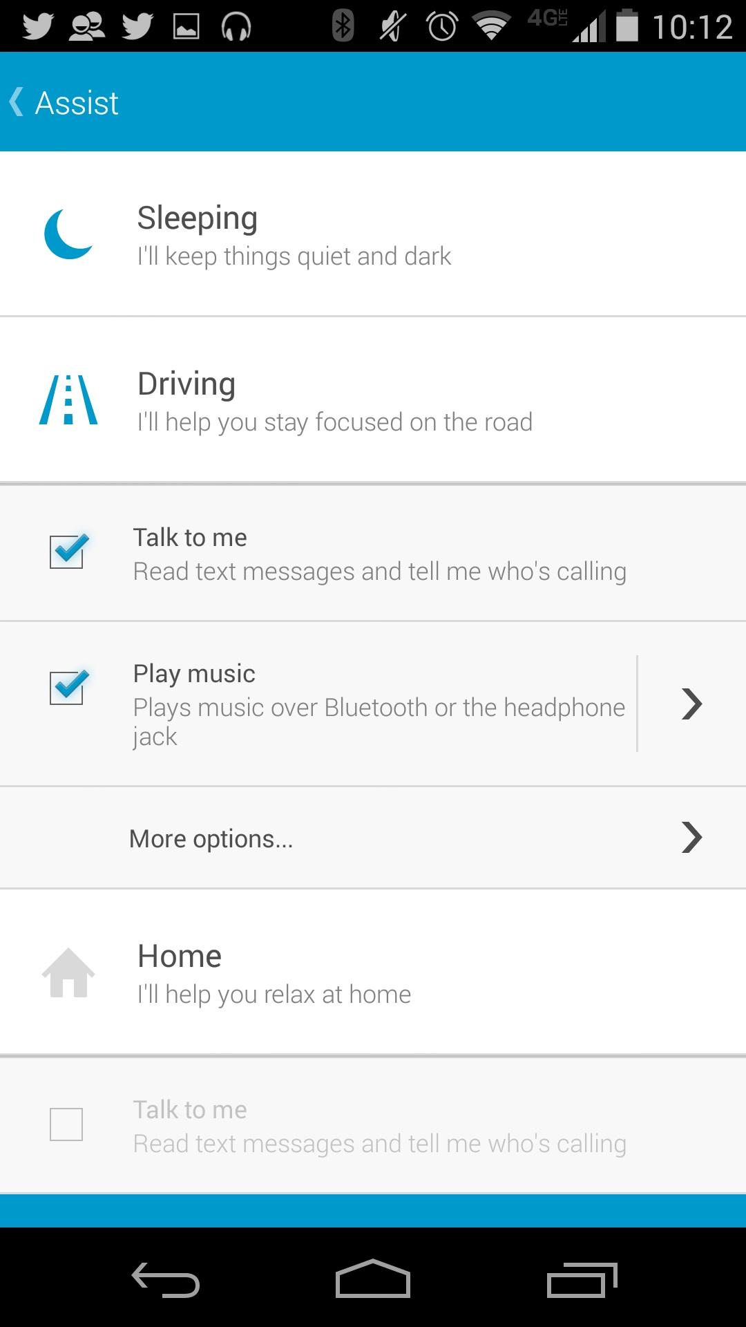 Hur man automatiskt spelar musik på Moto X 2014 med Moto Assist (9)