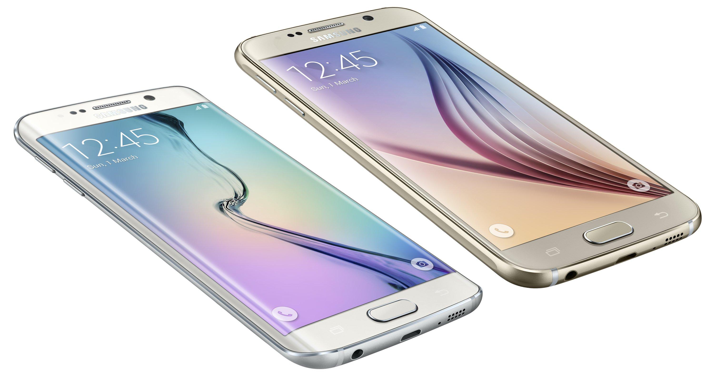 Galaxy S 6-skärmen är mindre och erbjuder ett böjt kantalternativ.