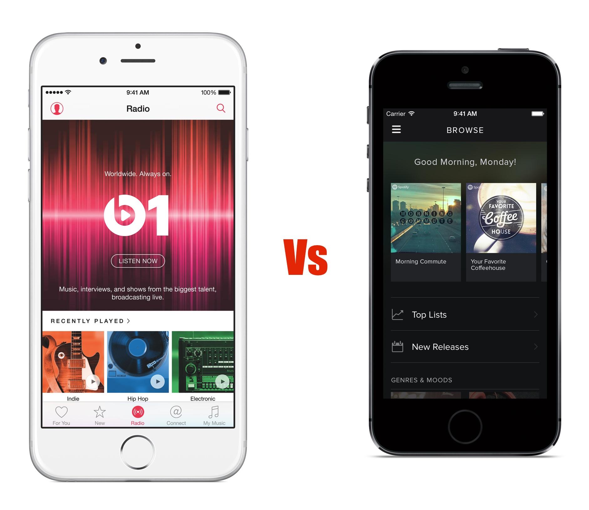 Så här jämför Apple Music och Spotify.