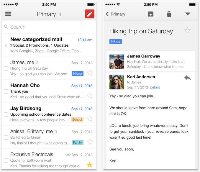 Gmail för iPhone