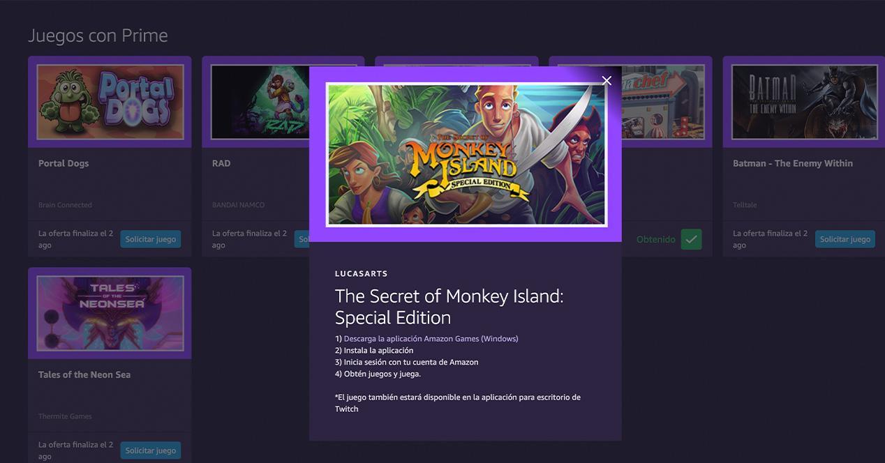 Monkey Island Prime Gaming