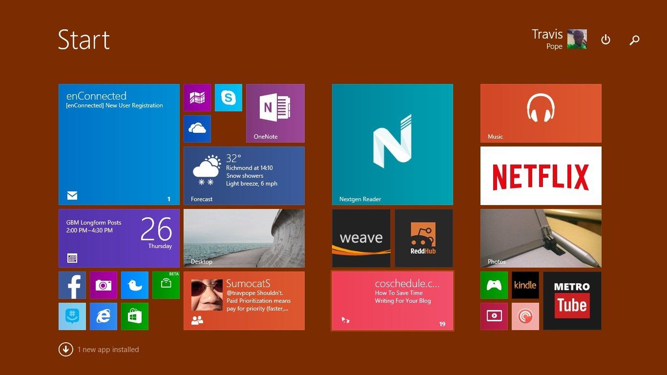 Så här ställer du in en bakgrund i Windows 8 (3)