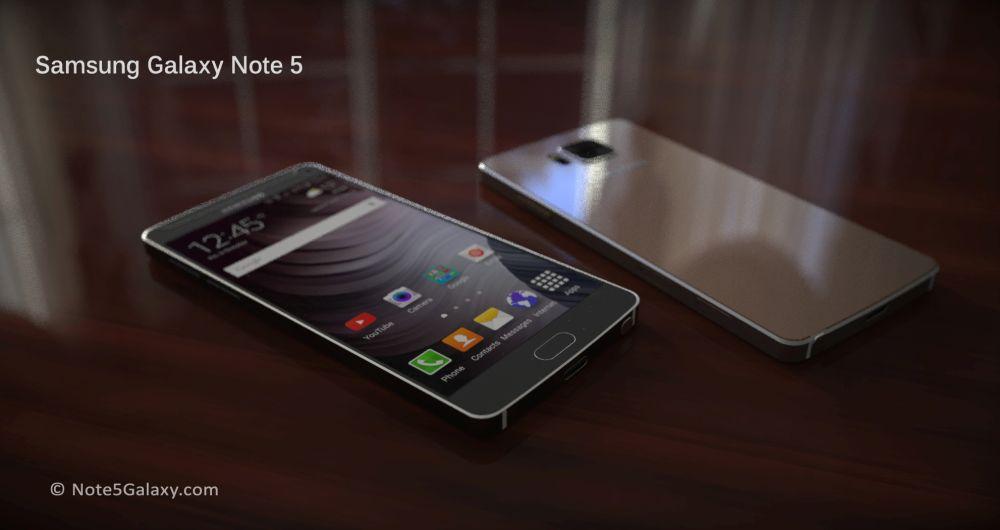 Galaxy Note 5-koncept.