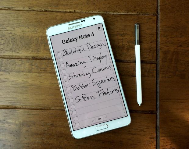 Galaxy Note 4 -funktioner