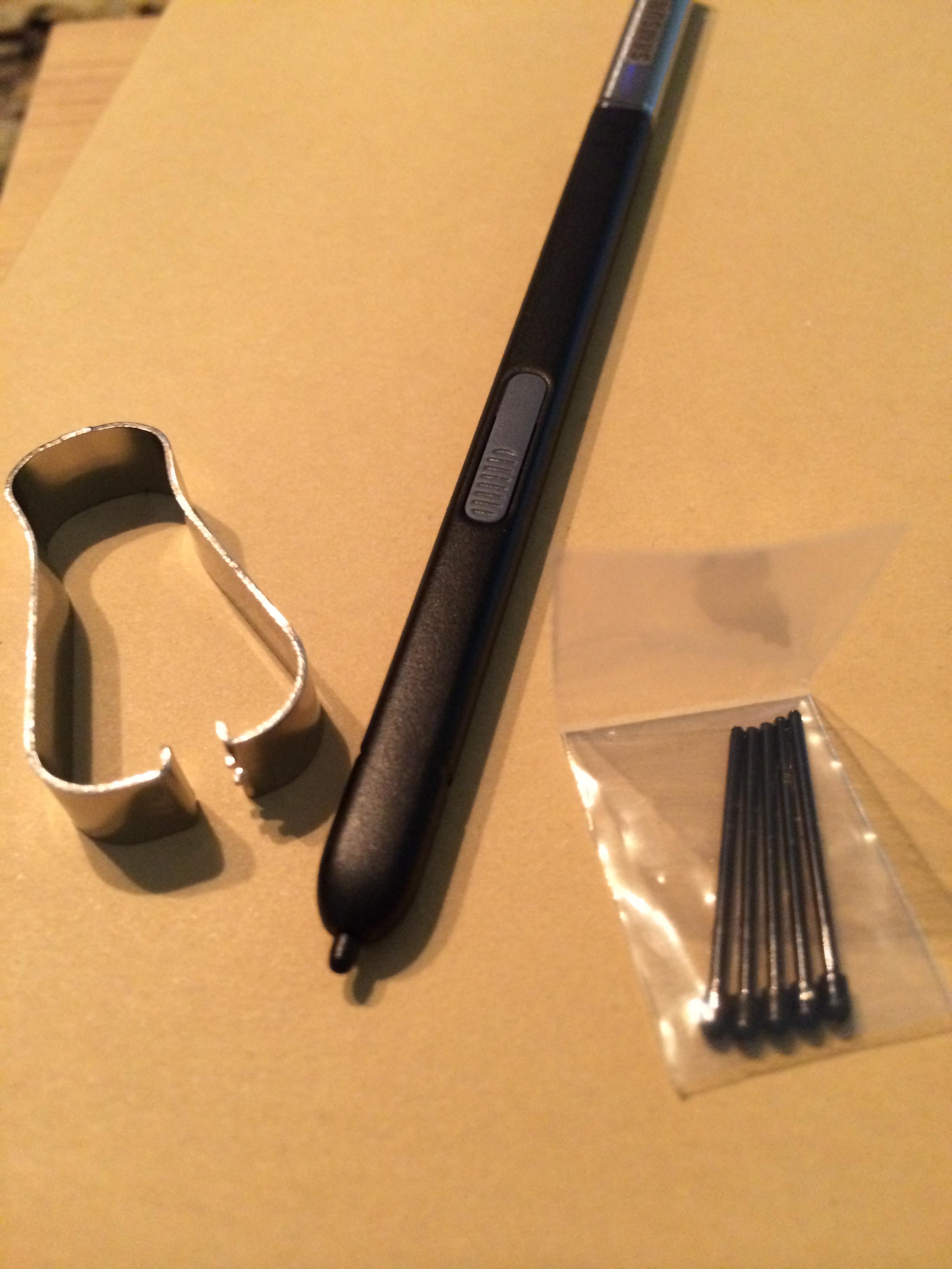 Galaxy Note 3 Stylus med extra spetsar och metallring