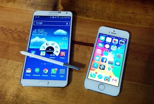 Samsung Galaxy Note 3 S Pen och mjukvara är en fördel jämfört med iPhone 5s.
