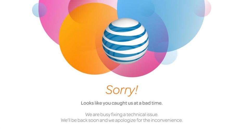 AT & T: s webbplats orsakar förbeställningsfel för iPhone 6.