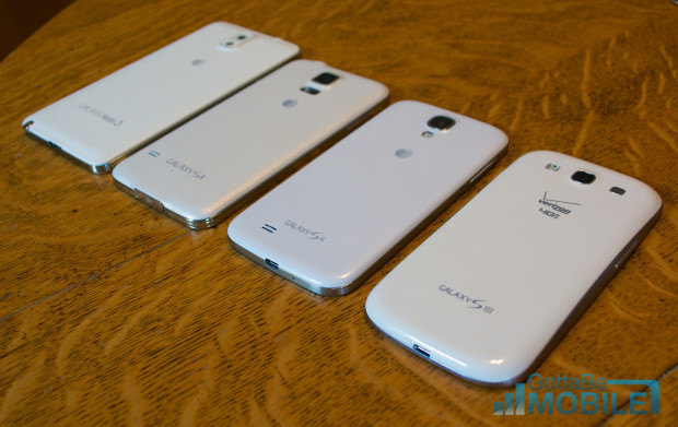 Samsung Galaxy S5 vs Galaxy S4 vs Galaxy S3 - Byggkvalitet