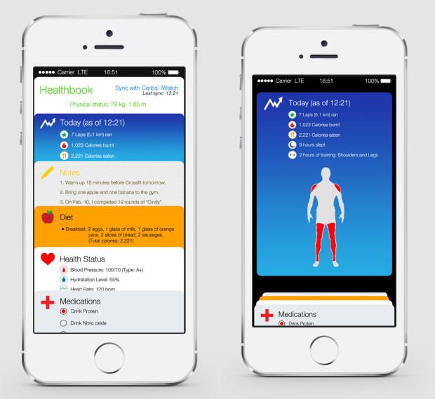 Ett nytt iOS 8 -koncept väcker rykten till liv, som visar en hälso- och fitnessapp.
