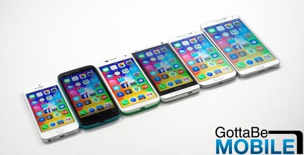 Vi kunde se två iPhone 6 -modeller med större skärmstorlekar 2014.