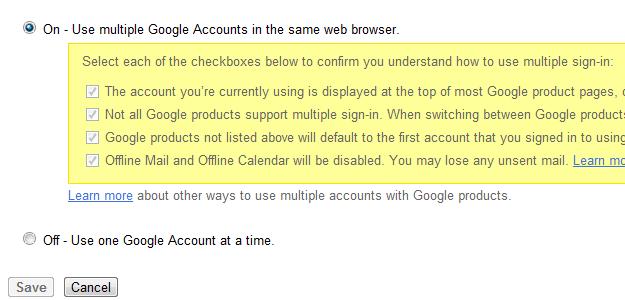 Hur man loggar in på 2 gmail -konton samtidigt