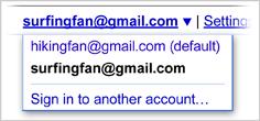 2 Gmail -konton i en webbläsare