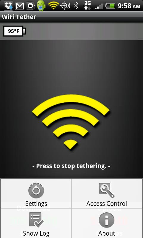 Wi-Fi Tether-app