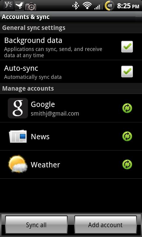 HTC Sync Control för bättre batteritid