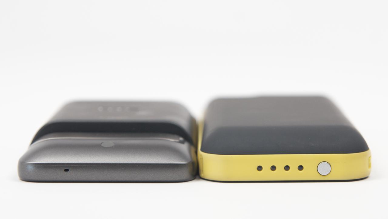 HTC Thunderbolt utökat batteri jämförelse