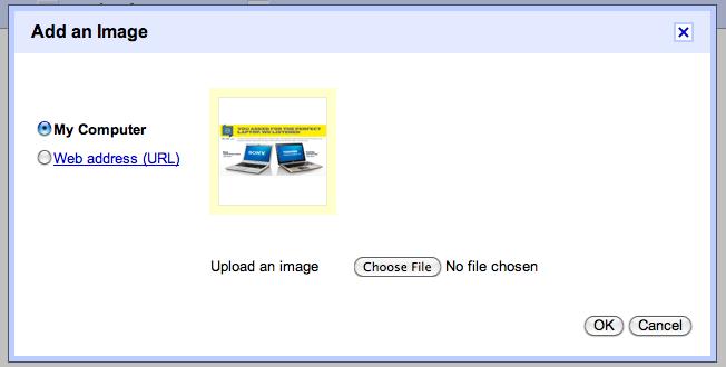 Gmail infogar bilder
