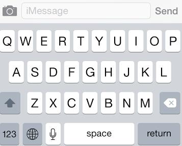 Det finns ett nytt utseende på tangentbordet inuti iOS 7.1