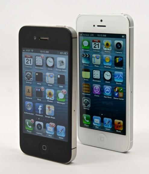 IPhone 5s och iPhone 5c erbjuder en större skärm.