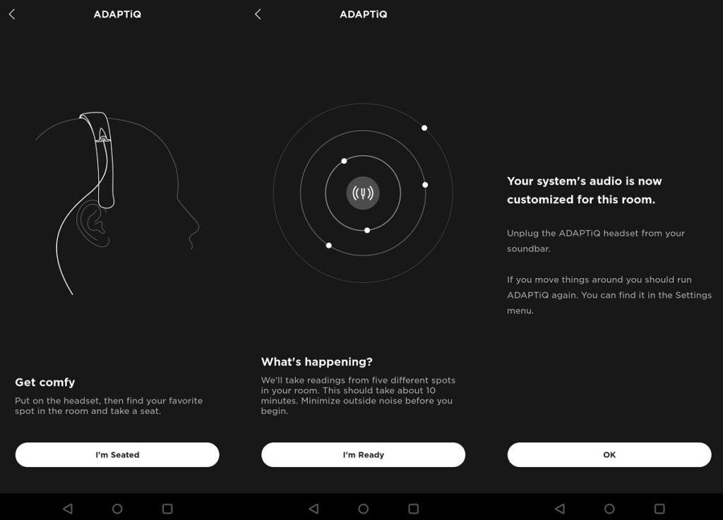 Bose Soundbar 500 ADAPTIQ-inställningsapp