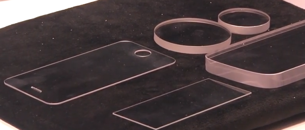Safirglas som kan leverera en starkare iPhone 6 -skärm.  Bild via IDG Network World Video.