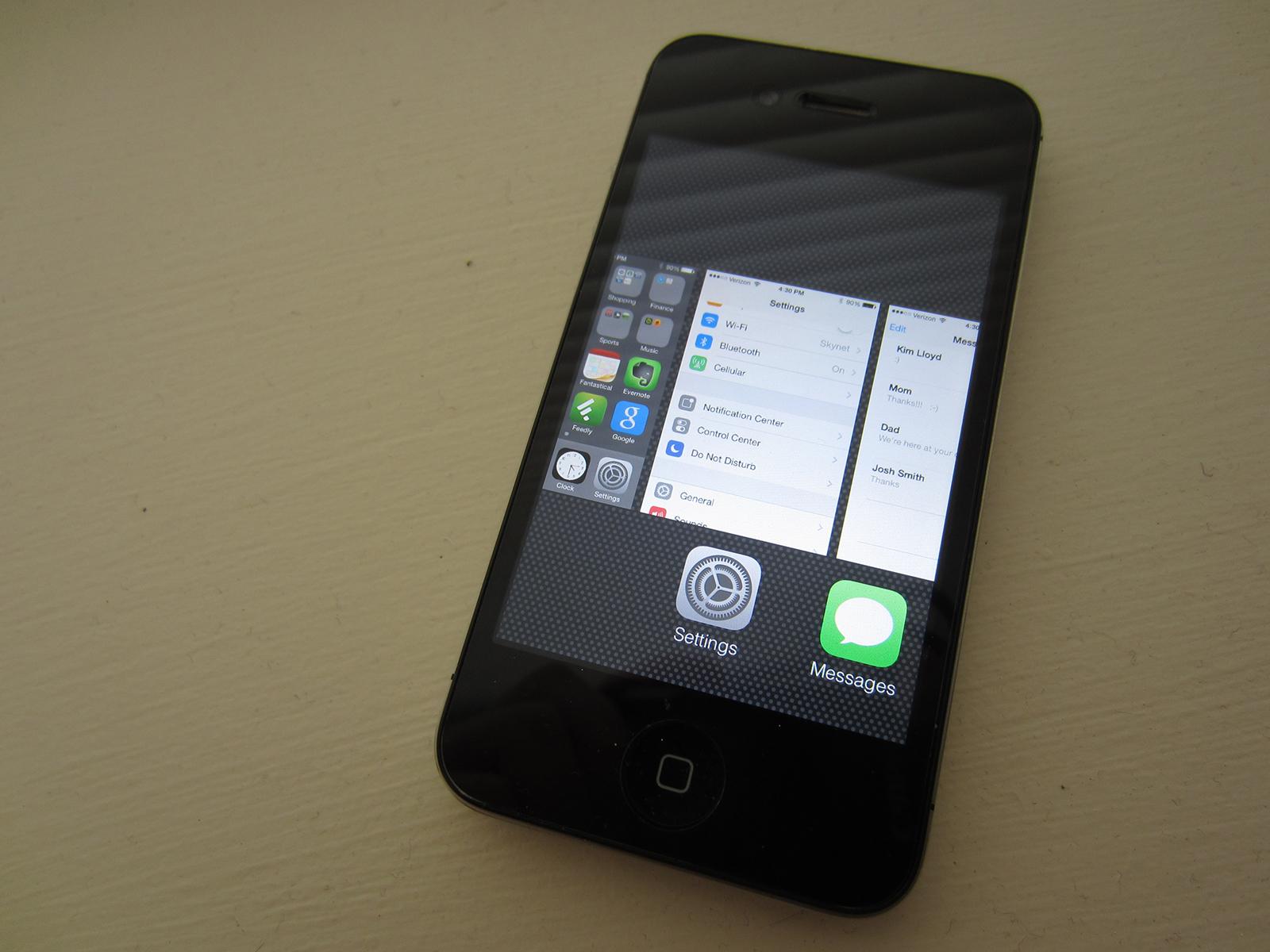 Recensioner för iPhone 4 iOS 7 är blandade.