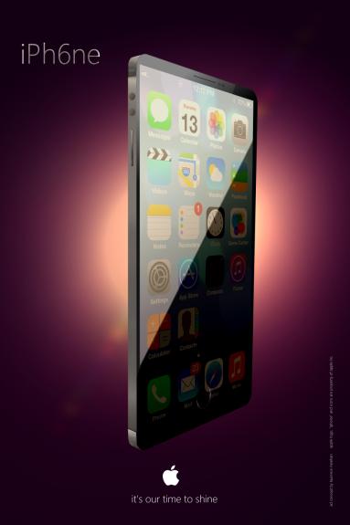 Detta nya iPhone 6-koncept visar en iPhone med en stor kant-till-kant-skärm.