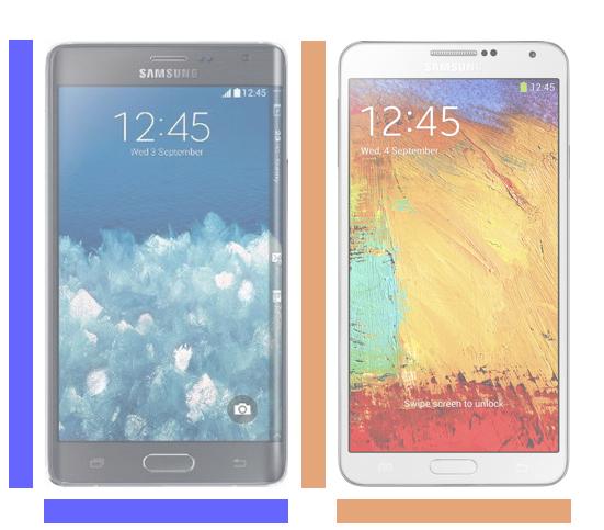 Galaxy Note Edge vs Galaxy Note 3.