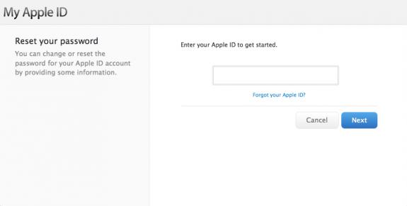 Hämta ditt Apple -ID innan du installerar iOS 7.
