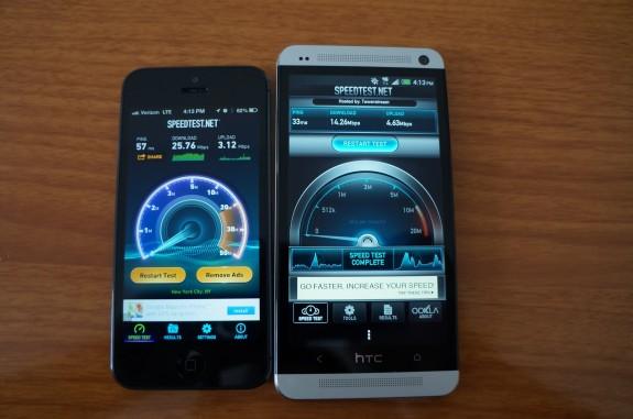 Sprint 4G LTE -hastighetstest.