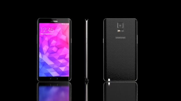 Detta Galaxy Note 4 -koncept har en design som består av plast och metall.