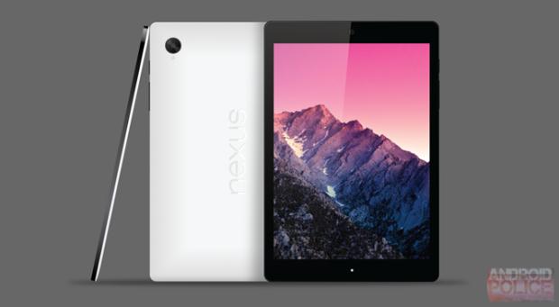 Nexus 8 -rendering baserat på rykten.