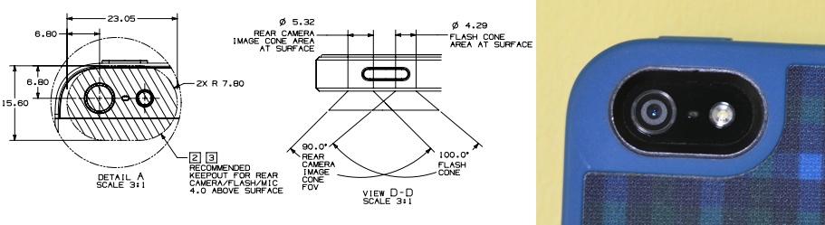 Apple iPhone 5 -ritningar skisserar säkra förvaringsområden för blixt.