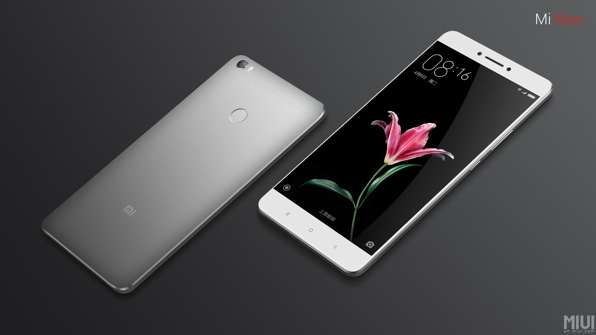 Xiaomi Mi Max med fingeravtryckssensor