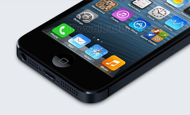 Botten-iPhone-5-iOs-7-ikoner-mockup