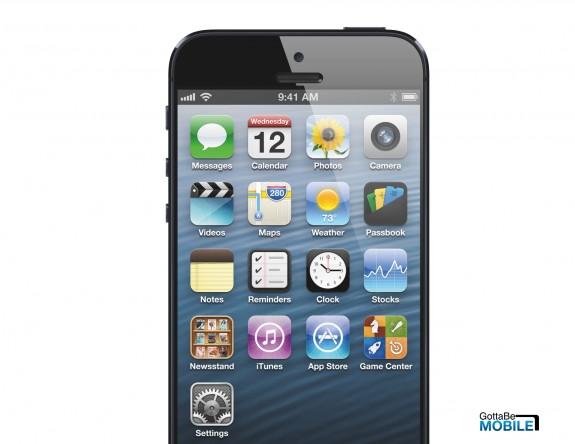 IPhone 5S kan ha en högre upplösning med en smalare ram, liknande iPad mini.