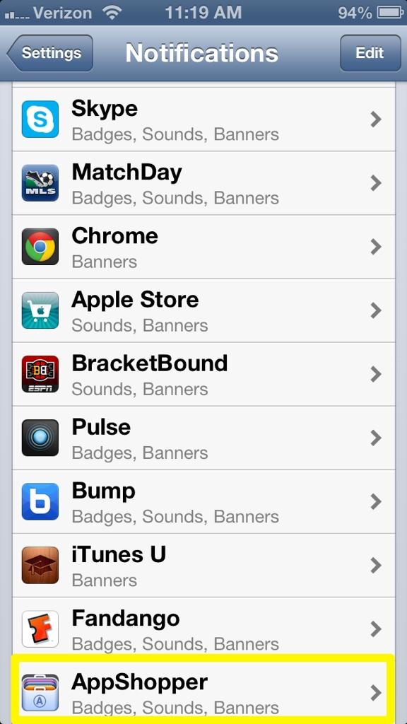 Tryck på App