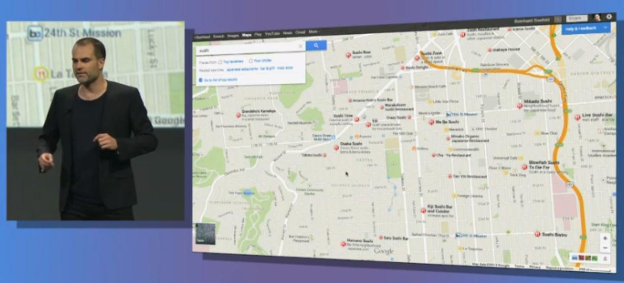 Maps är användargränssnittet för den nya datorversionen av Google Maps