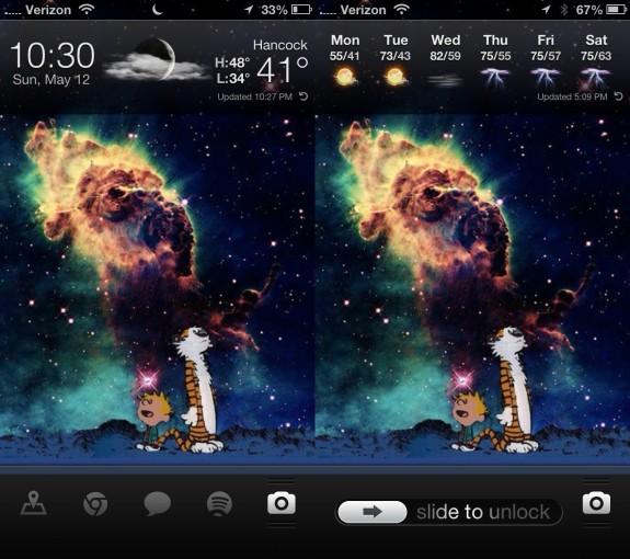 Ett snabbare sätt att få väderinformation på iPhone.