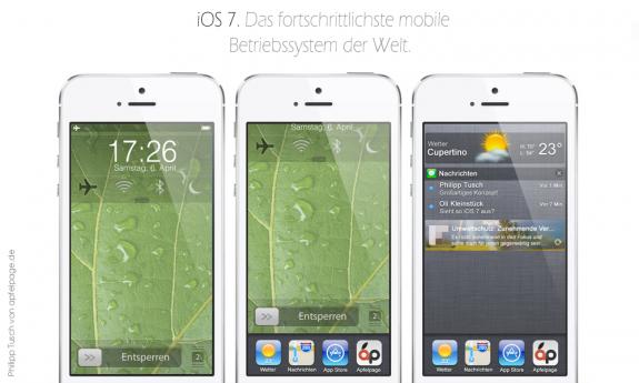 Ett nytt iOS 7 -låsskärmskoncept hjälper användare att få mer att göra utan att låsa upp iPhone.