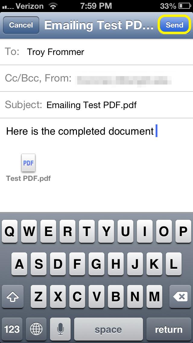 Skicka PDF