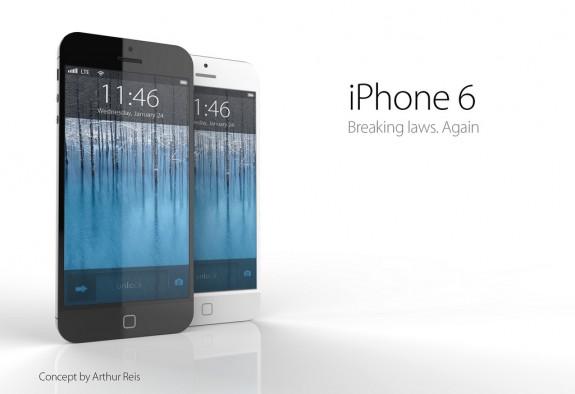Ett iPhone 6 -koncept från Arthur Reis, som visar en vattentät iPhone 6 utan hemknapp och en starkare finish.