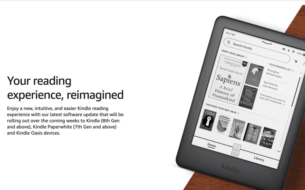 Uppdatering av Kindle -programvara