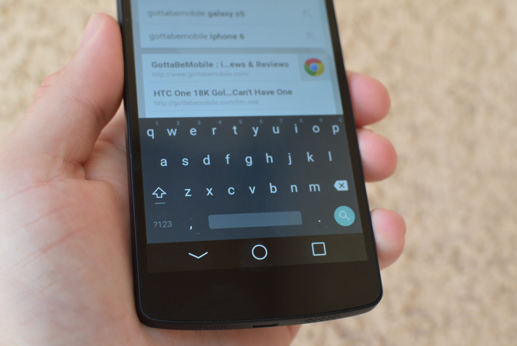 Android-L-tangentbord på Android 4.4.4
