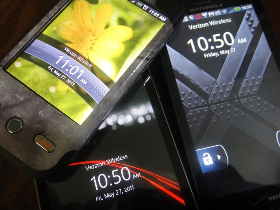 Android -telefoner på Verizon fel tid