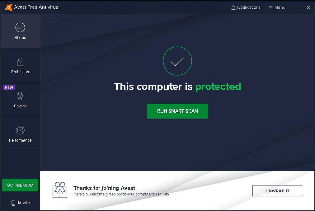 Avast gratis antivirusprogram