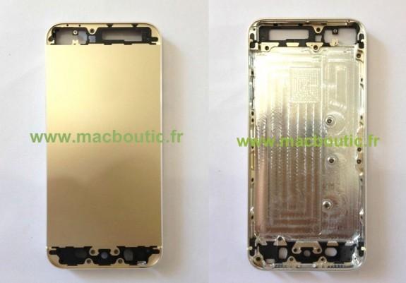 Guld iPhone 5S delar har läckt ut innan Apples lansering.