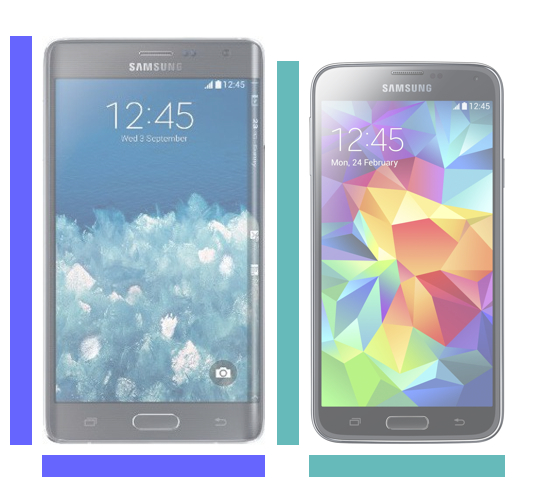 Galaxy Note Edge kontra Galaxy S5.
