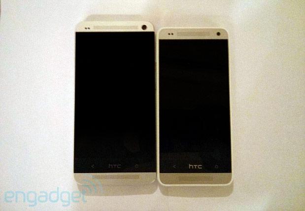 HTC One Mini bredvid HTC One.